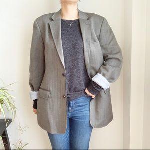 Tommy Hilfiger Grey Wool Oversized Blazer Size XL